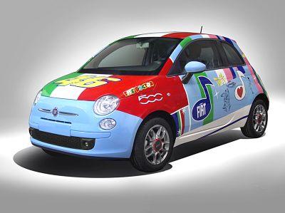 """Una Fiat 500 """"speciale"""" per Valentino Rossi"""