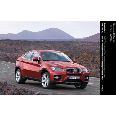 Anteprima mondiale della prima Sports Activity Coupé: la BMW X6