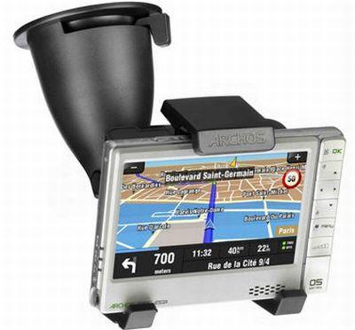 ARCHOS presenta il nuovo modulo GPS In-Car Holder per ARCHOS 605 WiFi
