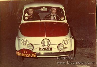 Cinquanta anni dopo la grande vittoria, Fiat 500 partecipa alla Liege-Brescia-Liege