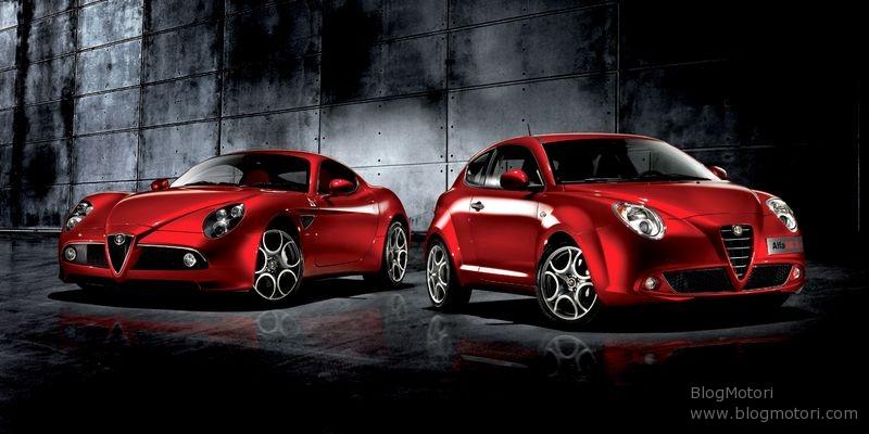Alfa Romeo: Mi.to e 8C posano insieme