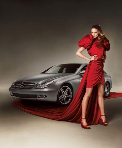 Julia Stegner, testimonial internazionale per la moda di Mercedes-Benz