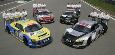24 Ore del Nurburgring: al via quattro Audi R8 LMS