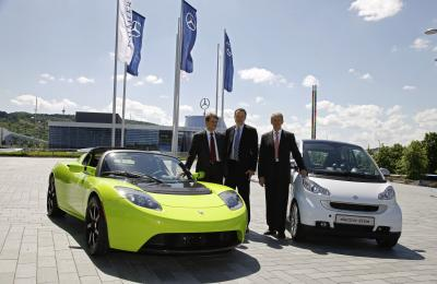 Partnership strategica tra Daimler AG e Tesla Motors