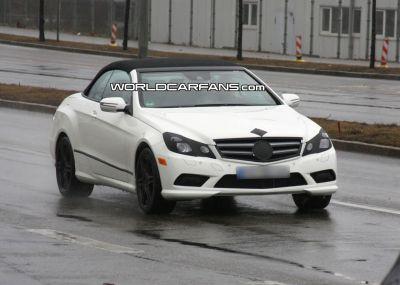 Mercedes Classe E Cabriolet: spy photos