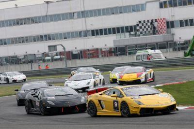 Lamborghini BlancPain Super Trofeo camera car con Uwe Alzen