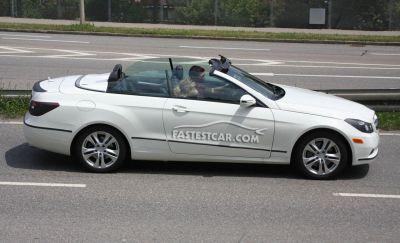 Mercedes Classe E Cabrio nuove foto spia 02
