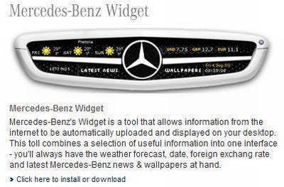 Mercedes-Benz Widget: previsioni meteo e tanto altro ancora sul desktop del pc