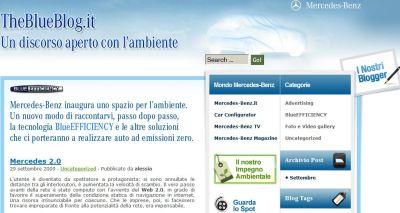 """TheBlueBlog.it: il nuovo blog """"eco-friendly"""" di Mercedes"""