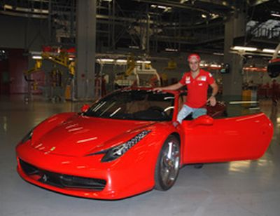 Ferrari primo giorno di Felipe a Maranello