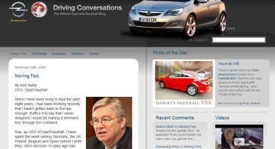 Moving Fast è questo il titolo del primo post di Nick Reilly CEO Opel Vauxhall nel suo blog