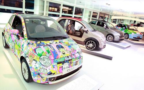 """Showroom Fiat Marylebone: in mostra le 500 """"speciali"""" per il secondo anniversario in UK"""