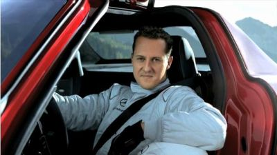 Michael Schumacher da testimonial Fiat a Mercedes a bordo della SLS AMG