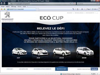 PEUGEOT ECO CUP  Vuoi essere il conducente più ecologico d'Europa