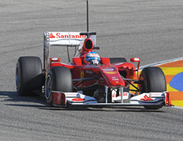 Terza giornata di prove a Valencia: Alonso primo, Schumacher terzo