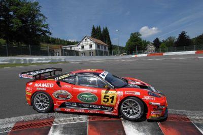 Kessel Racing le immagini delle Ferrari GTS dalla pista di Spa