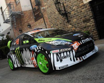 Circuito di Montlhéry Ken Block si esibisce a bordo della Fiesta S2000
