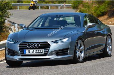 Audi A9 ad attenderla Maserati Quattroporte, Jaguar XFR e Porsche Panamera