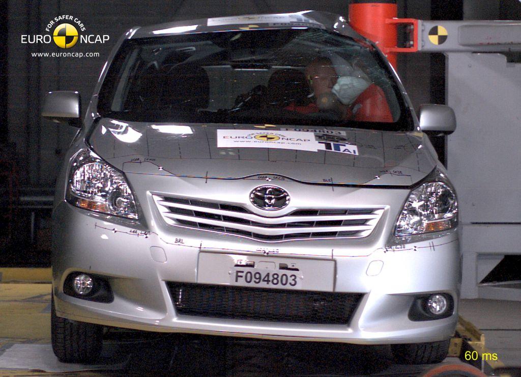 Euro NCAP: Toyota Verso nominata MPV più sicuro, ecco la top five