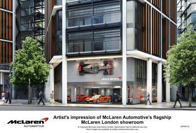 McLaren Automotive primo showroom a Londra, protagonista la MP4-12C