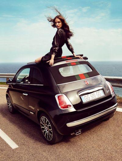 Fiat 500 C by Gucci ecco la versione en plein air 001