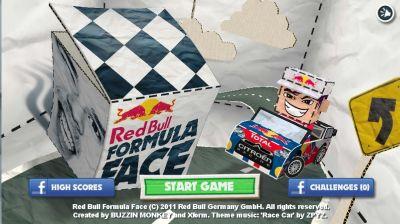 Red Bull Formula Face: il gioco gratis online che sfrutta il webcam-tracking