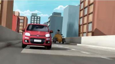 """Fiat Panda: allestimenti, prezzi e…""""Panda. Prova a prenderla"""" simpatico cartoon in 3D"""