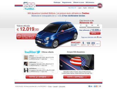Fiat 500 America su TwitBid: vince la twit-offerta di @KanzleiKieper
