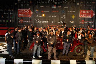Mille Miglia 2012: vince la coppia Scalise-Claramunt su Alfa Romeo 6C 1500 del 1930