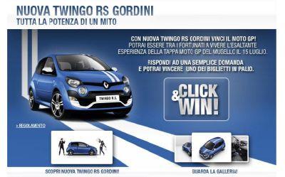Click & Win: con Nuova Twingo Rs Gordini vinci due biglietti di Moto GP per il Mugello