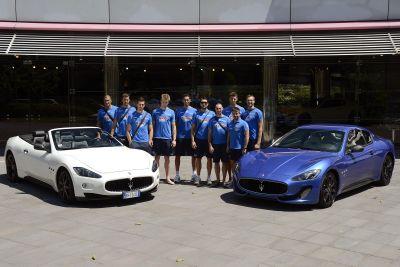 La Nazionale italiana maschile volley in visita alla Maserati