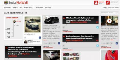 Tutto il mondo Alfa Romeo in tempo reale. Online la nuova versione di Social NetWall