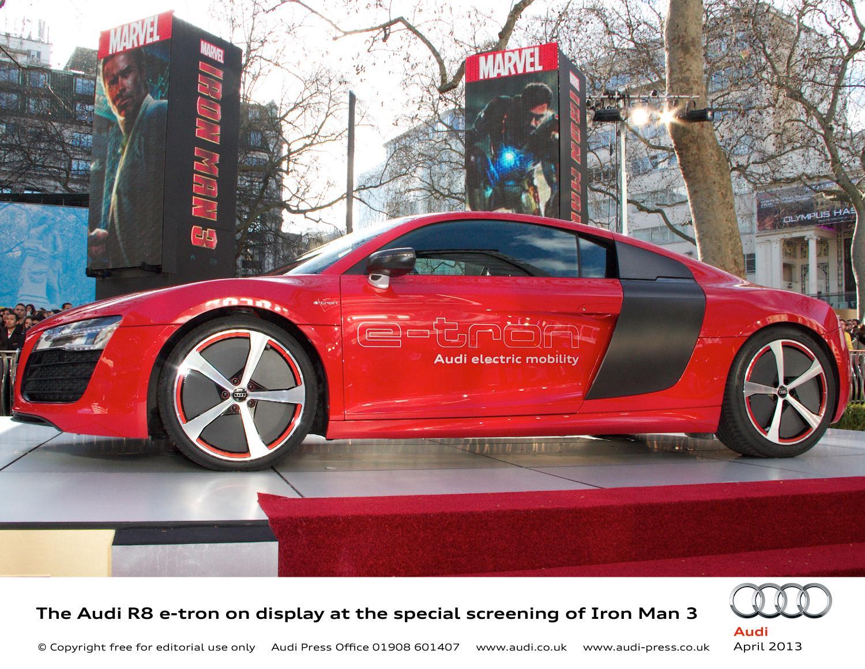 L'Audi R8 e-tron protagonista di Iron Man 3