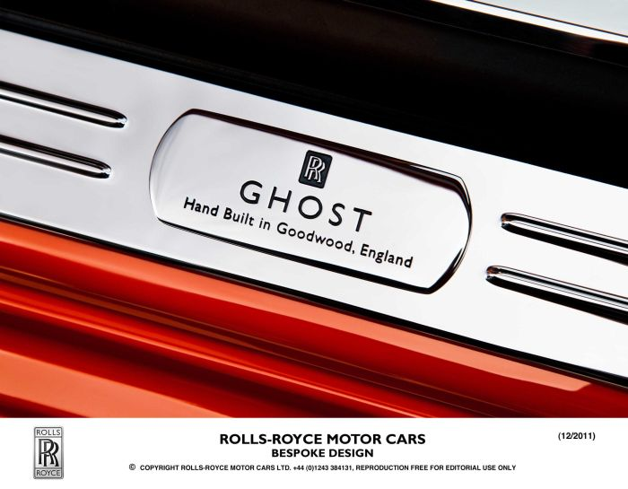 Rolls-Royce Motor Cars bespoke design