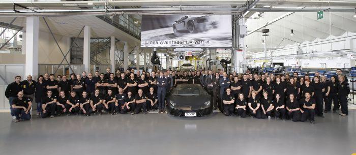 Automobili Lamborghini raggiunge il traguardo di 2.000 Aventador prodotte