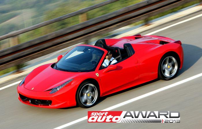 """La Ferrari 458 Spider vince il premio Sport Auto come """"Best Cabrio"""""""