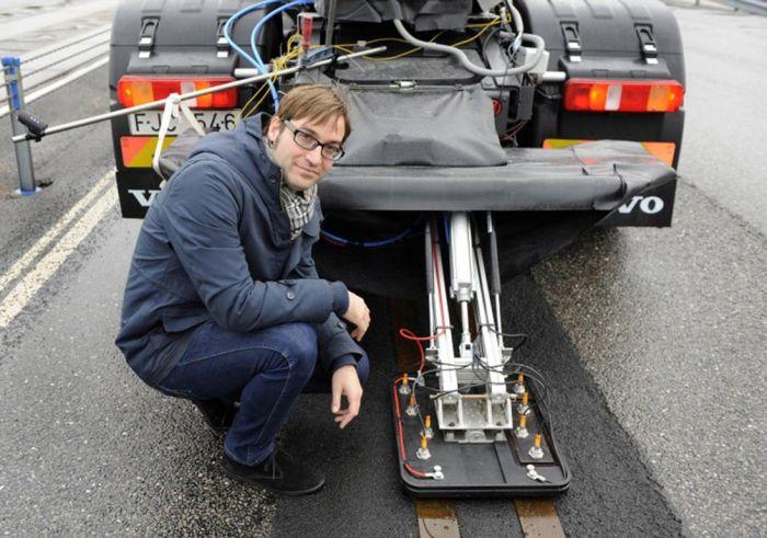 """La """"strada elettrica"""" pensata da Volvo per una mobilità sostenibile dei mezzi pesanti"""