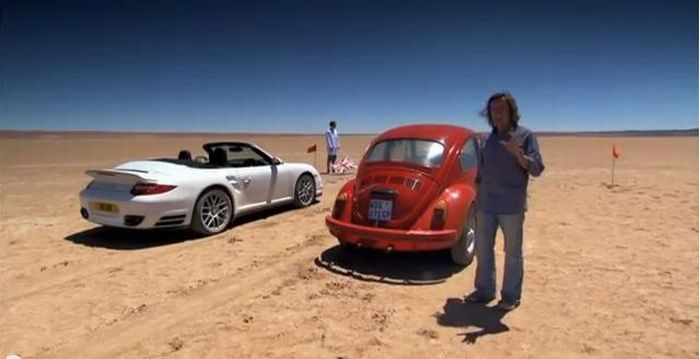 Top Gear UK: Porsche 911 Turbo S Cabriolet vs Volkswagen Beetle 1300
