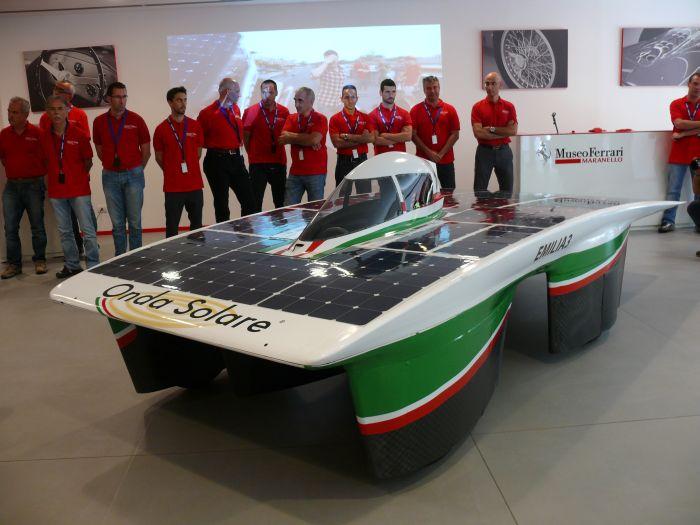 World Solar Challenge 2013: Onda Solare al Museo Ferrari di Maranello