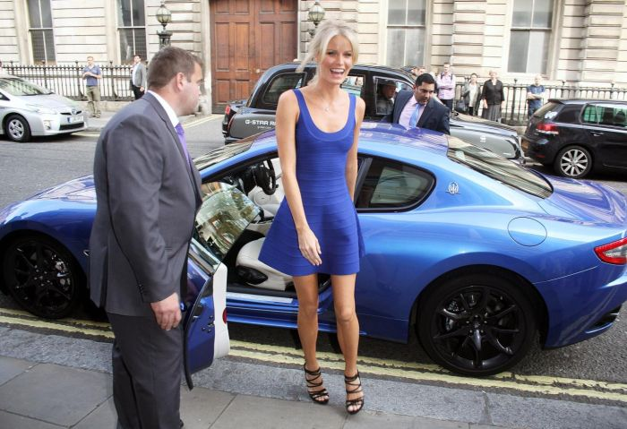 Supermodel Caroline Winberg arrives at the launch of 'The Face' 01