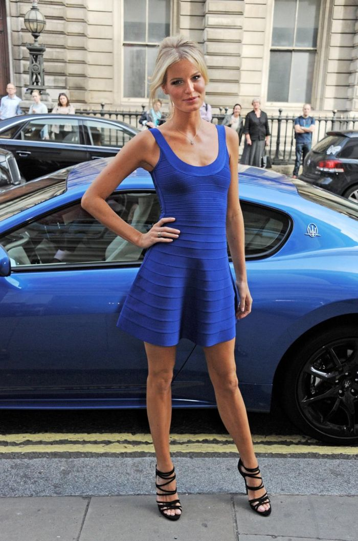 Supermodel Caroline Winberg arrives at the launch of 'The Face' 02