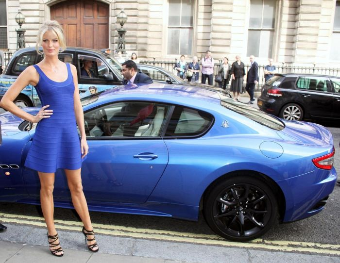 Supermodel Caroline Winberg arrives at the launch of 'The Face' 03