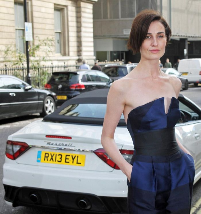 Supermodel Erin O'Connor arrives at the launch of 'The Face' 1