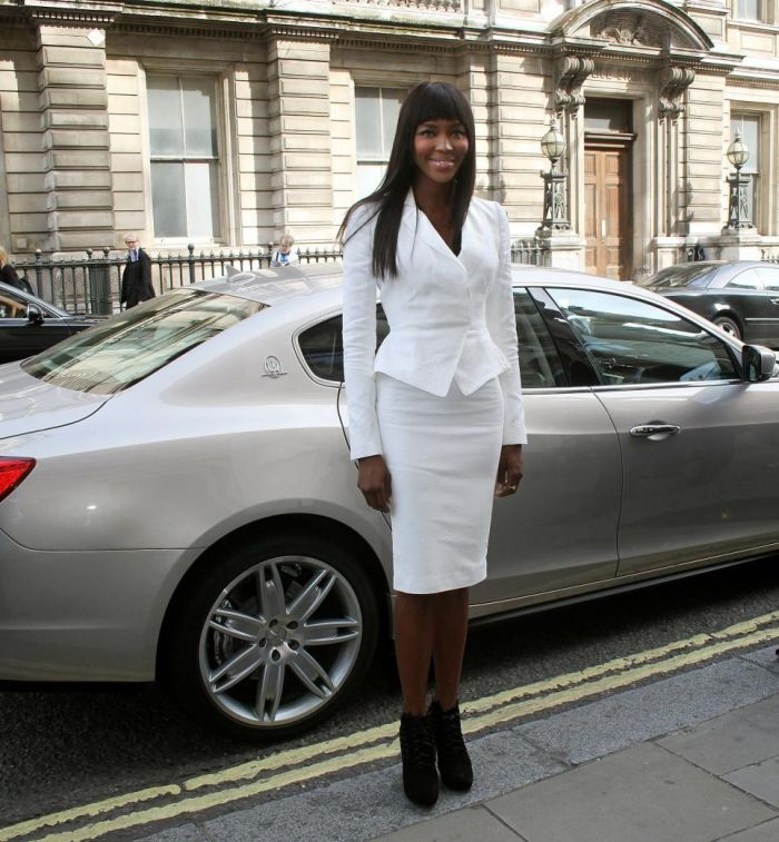 Supermodel Naomi Campbell arrives at the launch of 'The Face'