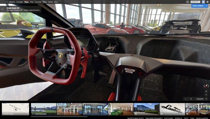 Il Museo di Automobili Lamborghini diventa visitabile online grazie a Google 01