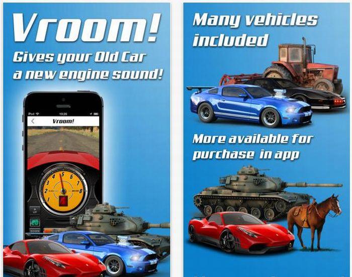Vroom!, l'App per dare alla vostra auto il sound di una supercar