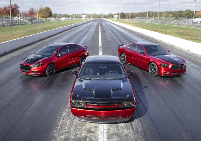 2014 Dodge Dart GT, Challenger RT and Charger RT with Scat
