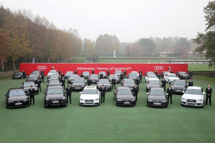 Consegna delle vetture Audi all'A.C. Milan
