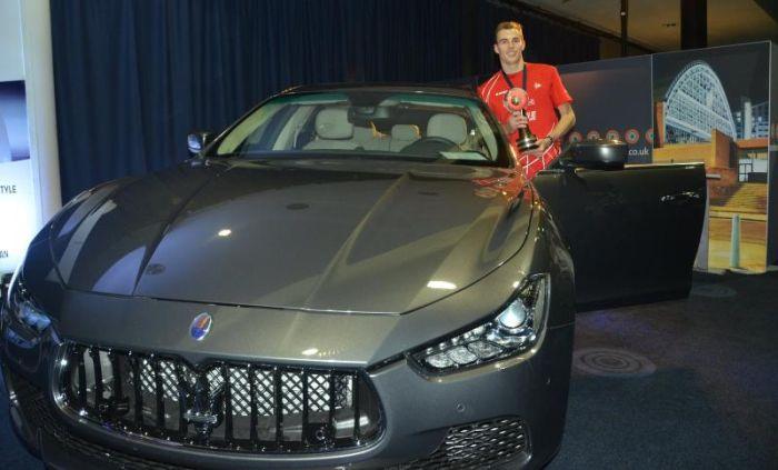 Nick Matthew, with the all-new Maserati Ghibli