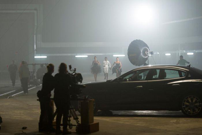 The Face Naomi Campbell, Caroline Winberg e Erin O'Connor, con special guest la nuova Maserati Quattroporte 02